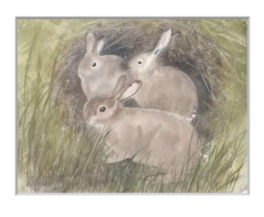 Nr.149  Kaninchen in meinem Garten - Aquarell 2018