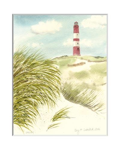 Nr.72  Leuchtturm - Aquarell 2014