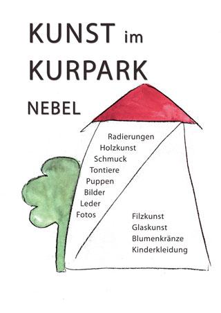 Plakat Kunst im Kurpark